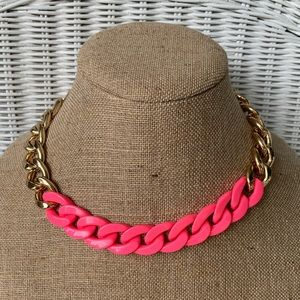 Gold & Pink Chain Necklace!!